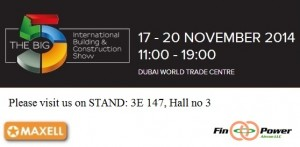 DUBAI – Maxell Industries is showing its presence in the BIG 5 show 2014!!